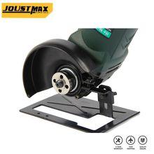 Стойка для угловой шлифовальной машины, утолщенная стальная основа для режущего станка, электроинструменты «сделай сам», аксессуары для деревообработки или другой инвентарь