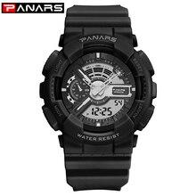 PANARS Sports Men Digital Wristwatches Style Shock Big Dial Military Alarm Resistant Waterp