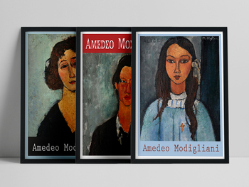 Italy Artist Amedeo Modigliani Famous Works Vintage Women Girl Portrait Canvas Painting Wall Art Print Poster Living Room Decor image