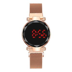 Round LED Watch Men Digital Wa