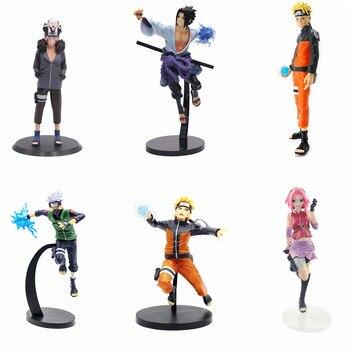 Anime Naruto Figurine Uchiha Sasuke Figure Kakashi Haruno Sakura Uzumaki Naruto action figure models toys doll gifts for kids