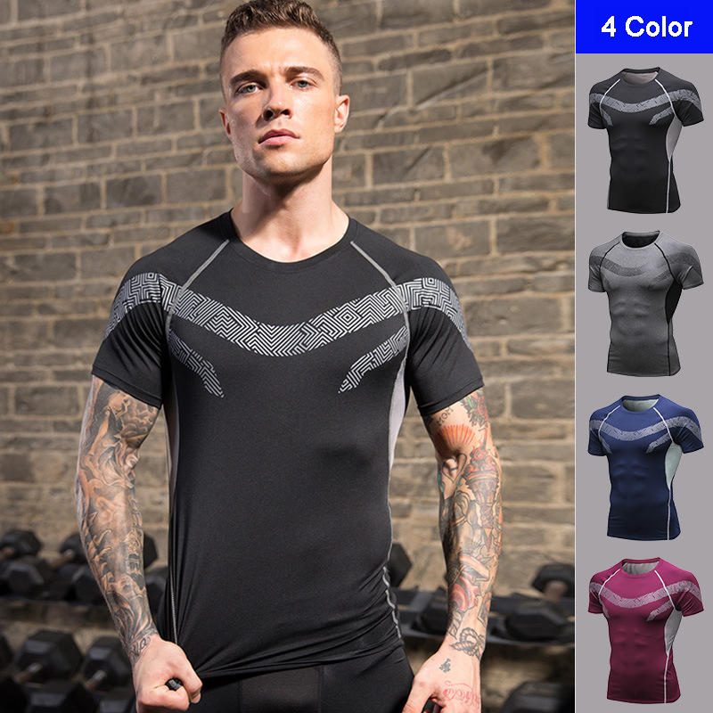 Fanceey Rashgard, мужские рубашки для бега, Спортивная рубашка для кроссфита, мужская спортивная рубашка для велоспорта, футбола, баскетбола, спорт...