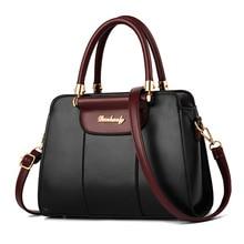 цена на New Brand Luxury Handbag Women Bag PU Leather Tote Fashion Handbag for Women Designer Ladies Large Shoulder Bag Torebki Damskie