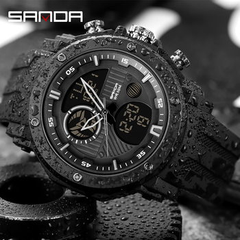 SANDA Luxury Brand Men's Military Sports Watches Men Digital Quartz Clock S Shock Waterproof Wrist Watch relogio masculino
