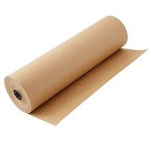 Rolo de papel kraft marrom 30m ótimo para embrulho de presente, arte, ofício, postal, embalagem