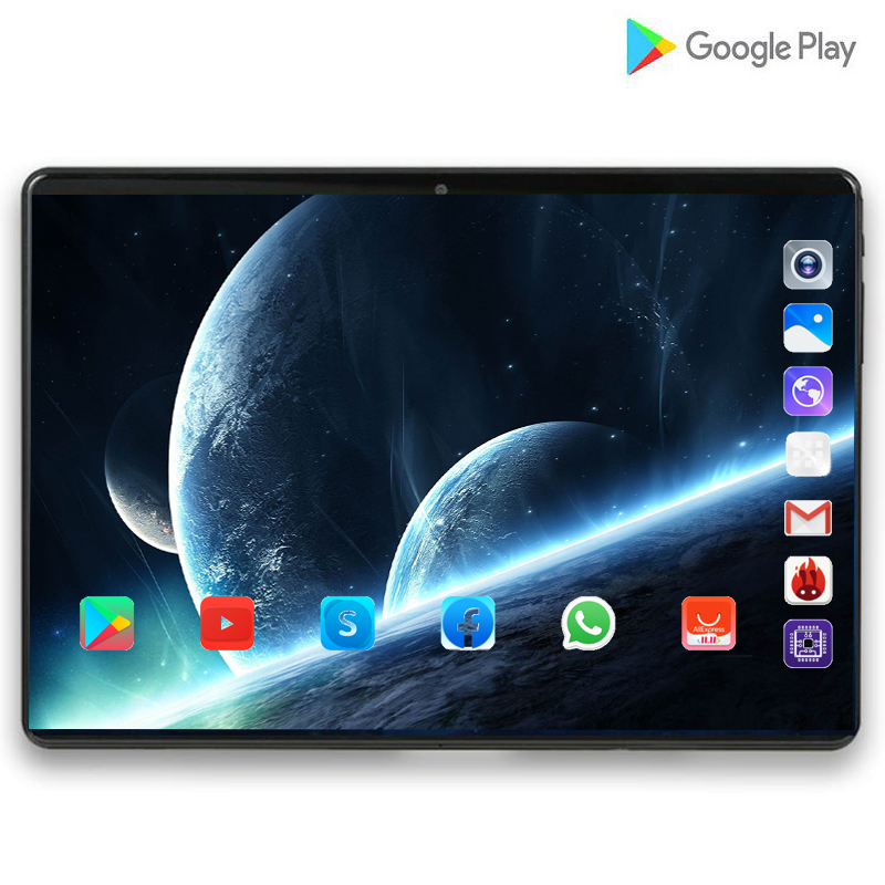 2020 Super Tablet 128G Global Bluetooth Wifi Android 9.0 10 Inch Tablet Octa Core 6GB RAM 128GB ROM 2.5D Screen Tablets 4G LTE