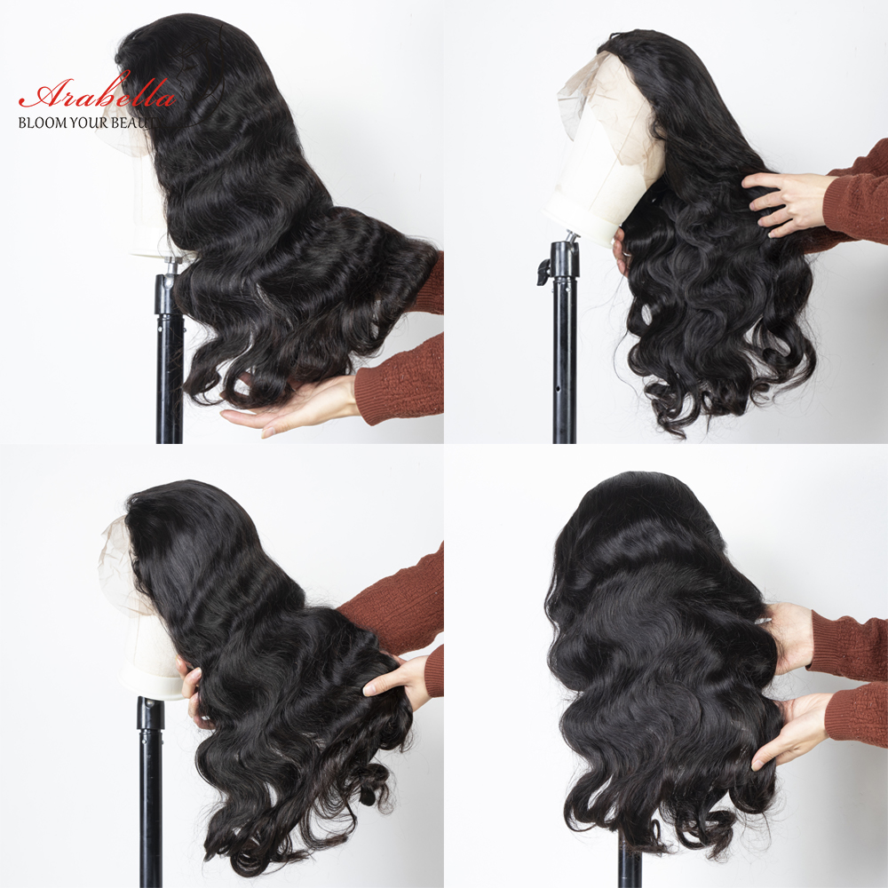 Body Wave Lace Front Wig 100% Lace Front  Wigs Natural  Hair Wigs  Arabella Pre Plucked 13*4 Front 6