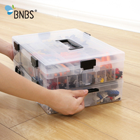 BNBS Lego Blocks Organizer Storage Box Toy Container Plastic Nozzle Set Boxes For Tools Detachable High Capacity Storage Items