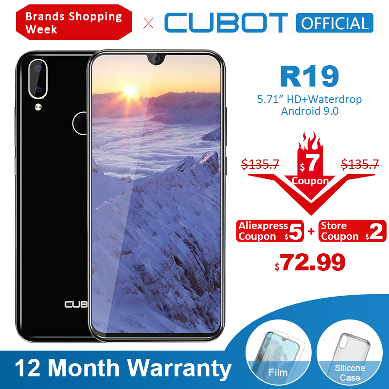 Cubot Android 19:9 32GB GSM Quad Core Fingerprint Recognition/face Recognition 8mp New