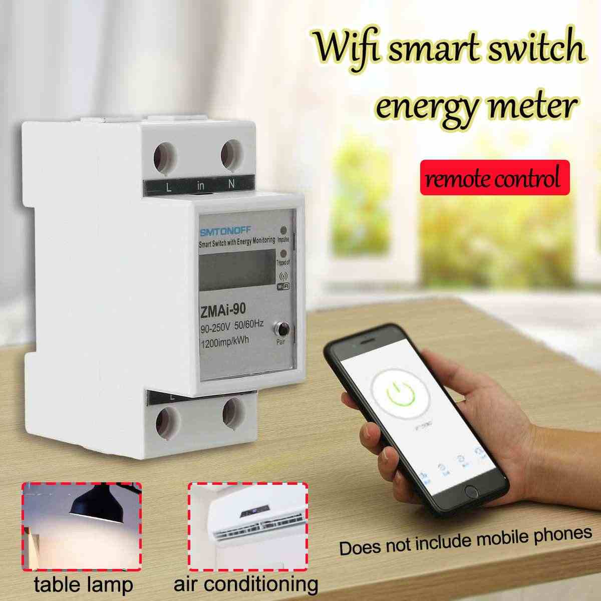 Electric Kwh Smart Meter Single Phase