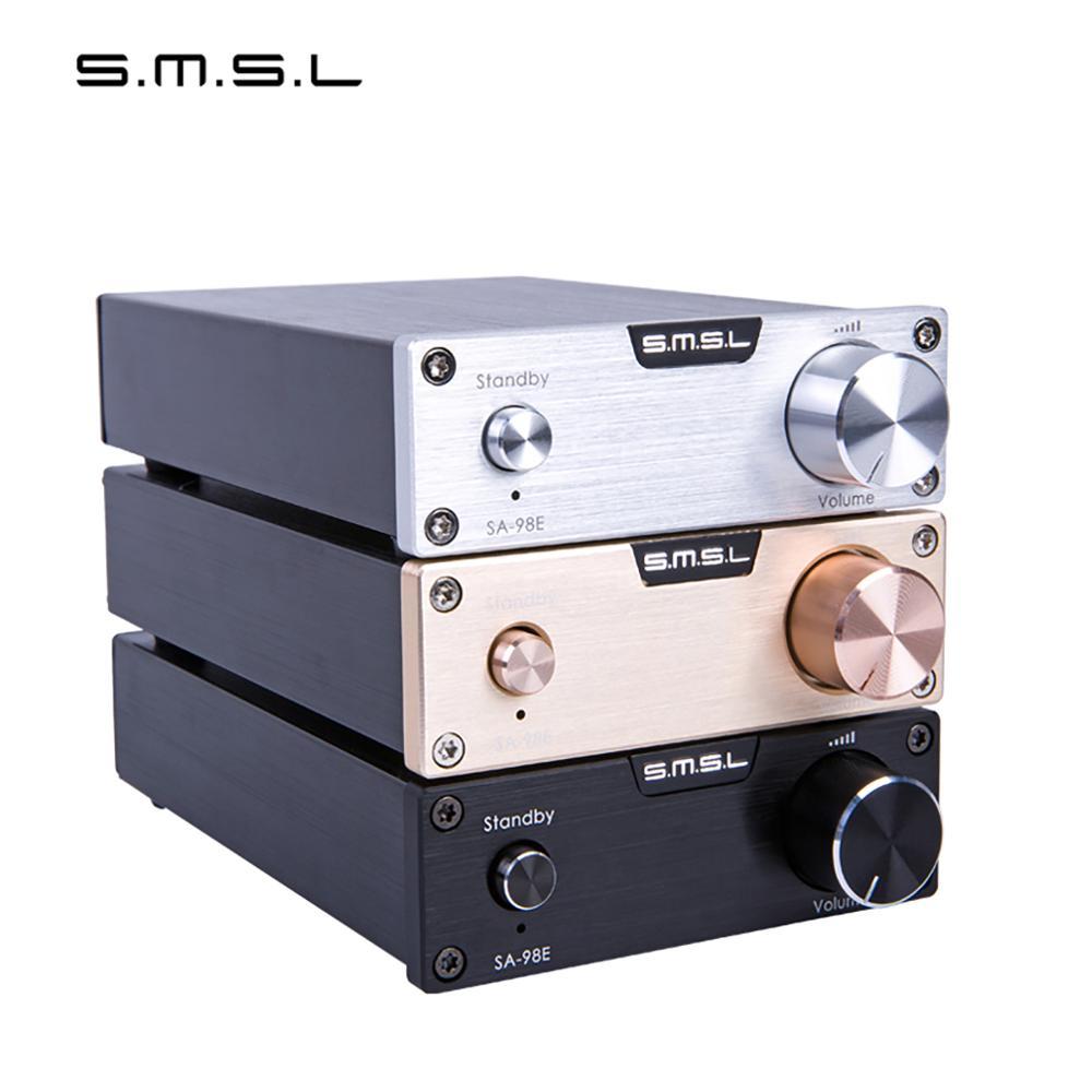 SMSL SA 98E casa potencia de clase D Amplificador de Audio TDA7498E Hifi 160W Amplificador de Amplificador