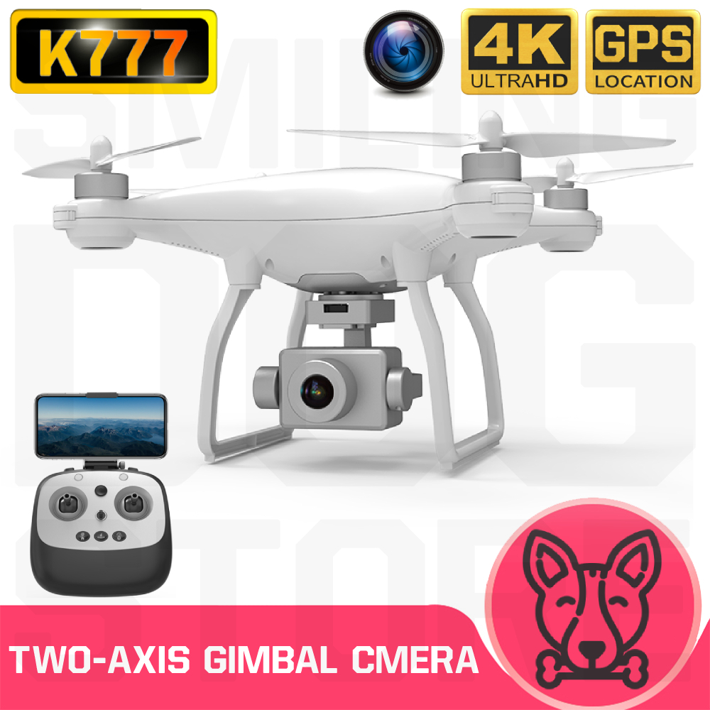 K777 Drone GPS 4K HD Two-Axis Anti-Shake Gimbal Camera 5G WIFI Brushless SD Card Professional 30Mins Flight VS X35 RC Quadcopter