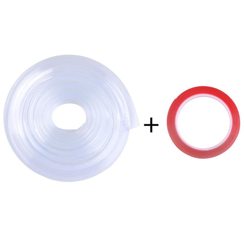 1m Baby Collisionproof Table Edge Strip With Adhesive Double-stick Tape Set Transparent Silicone Removable Furniture Protecter