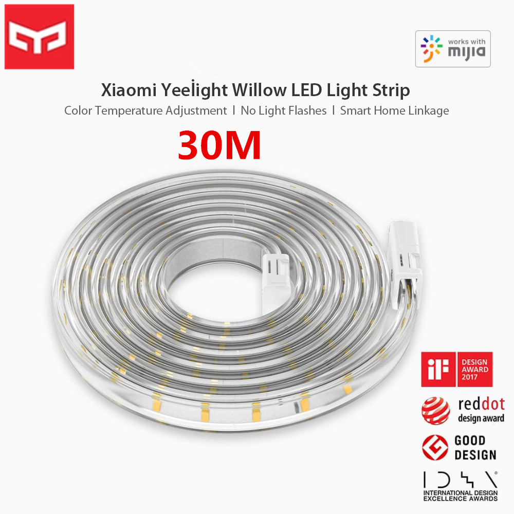 Xiaomi Yeelight 30M Smart LED Light Strip Color Temperature Adjustment APP Bluetooth Remote Control Voice Control Intelligent