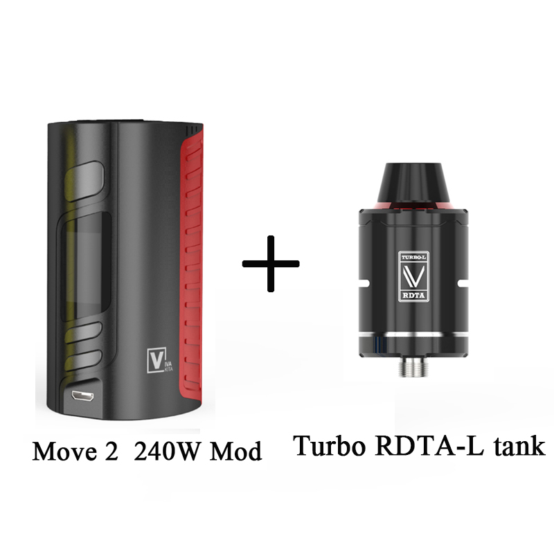 Gift Tank Vapor MOVE 2 Bypass 240W VW TCR Mod Temperature Control Box Mod Fit 510 Thread Tank Vape Electronic Cigarette Fashion