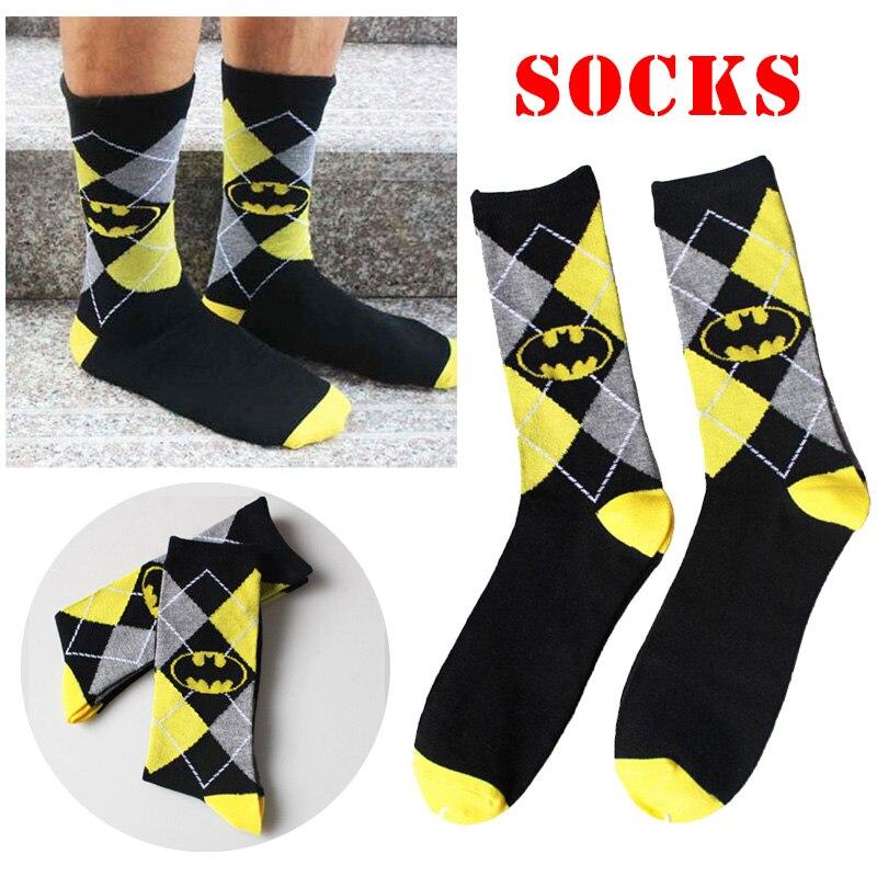 Unisex Batman Cotton Socks Design Multi-Color Dress Women's Men's Casual Socks Cotton Socks Renaissance