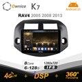 K7 Ownice 6G Ram 128G Rom Android 10,0 автомобиль радио setero для Toyota RAV4 2005 2008 2013 авто аудио 360 панорама оптический 5G Wi-Fi