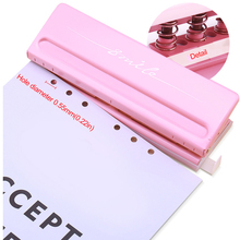 Candy Color Metal 6 Hole Punchers A4/A5/A6/B3/B4/B5 Standard Leaf Paper Punch 6 Hole Adjustable Punch Planner Scrapbooking Tool