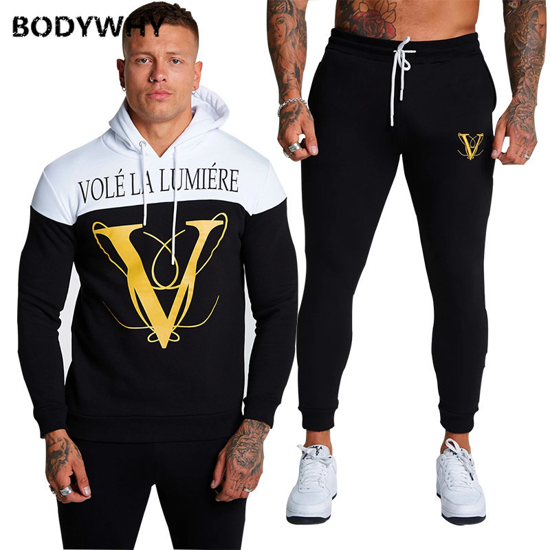 Men Sweatsuits 2 Piece Set Sport Wear Gym Clothes Ropa Para Hombre Casual Sweatpants 2020 Set Sport Suit Training Suit Clothes