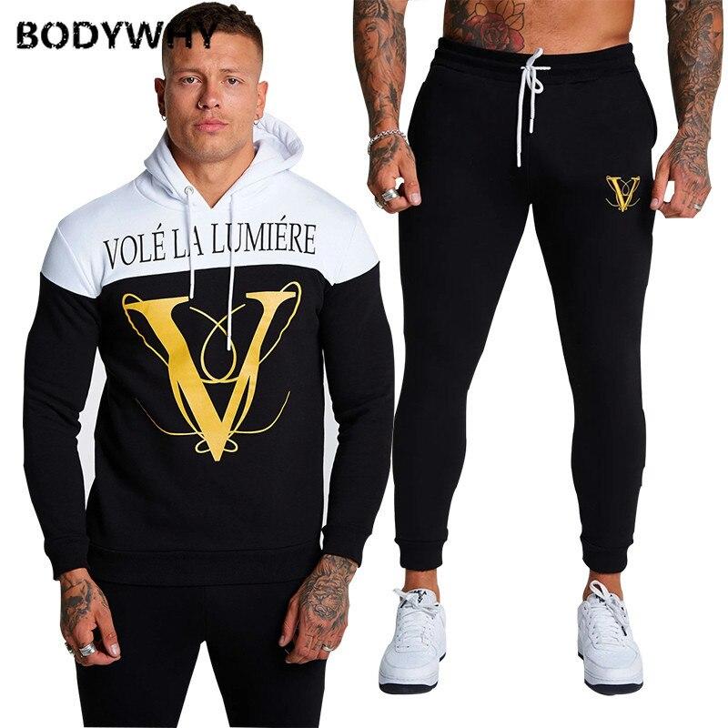 Men Sweatsuits 2 Piece Set Sport Wear Gym Clothes Ropa Para Hombre Casual Sweatpants 2020 Set Sport Suit Training Suit Clothes