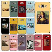 Yinuoda Great art aesthetic van Gogh Mona Lisa Angel Phone Case For Samsung Galaxy J7 J6 J8 J4 J4Plus J7 DUO J7NEO J2 J5 Prime