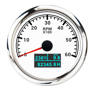 "Image 3 - חדש 85mm 3 ב 1 טכומטר ימי Tacho מטר 8000 סל""ד 7000 סל""ד 6000 סל""ד 4000 סל""ד עמיד למים סירה רכב טכומטר Toerenteller"