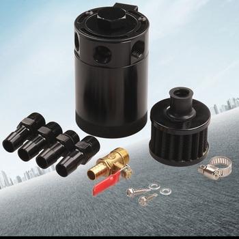 Nowy samochód ze stopu Aluminium pojemnik do ściągania oleju zbiornik Separator oleju pneumatycznego złap może oleju 3 Port tanie i dobre opinie 63mm China Oil catch can 95mm Aluminium alloy 0 45