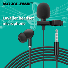 VOXLINK Microphone with Metal Lavalier Right Headset Clip Tie Collar for Mobile Phone Speaking Live broadcast Lapel Microphones