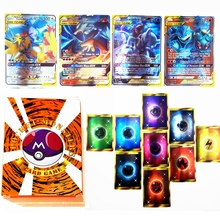 100pcs Pokemon TAG TEAM GX Trainer Energy Shining Card Box TAKARA TOMY Game Card Battle Trading Carte Best Selling Kids Toy Gift