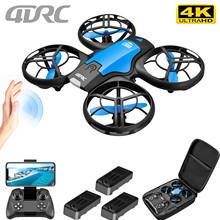 4DRC V8 nowy Mini Drone 4k zawód HD szerokokątny aparat 1080P WiFi dron fpv wysokość kamery utrzymać drony aparat zabawki-helikoptery tanie tanio CN (pochodzenie) 1080p FHD 720P HD 2K QHD 480P SD Mode1 Mode2 4 kanały 7-12y 12 + y Oryginalne pudełko na baterie Instrukcja obsługi