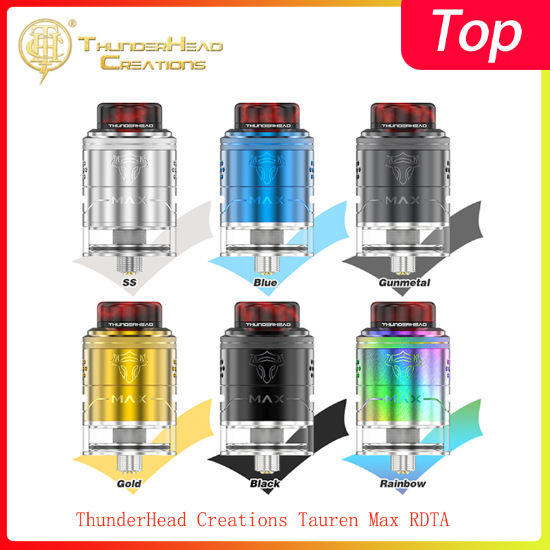 Newest ThunderHead Creations Tauren Max RDTA With 2ml/4.5ml Capacity &510 Thread Vape Tank For Electronic Cigarette Box Mod