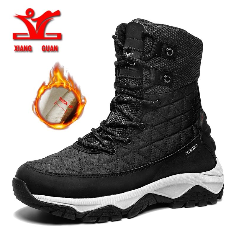 Sapatos de Caminhada dos Homens Botas de Neve Tênis de Trekking Xiangguan Novos Manter Quente Anti Deslizamento Escalada Botas Homens Sapatos Esportivos Femininos