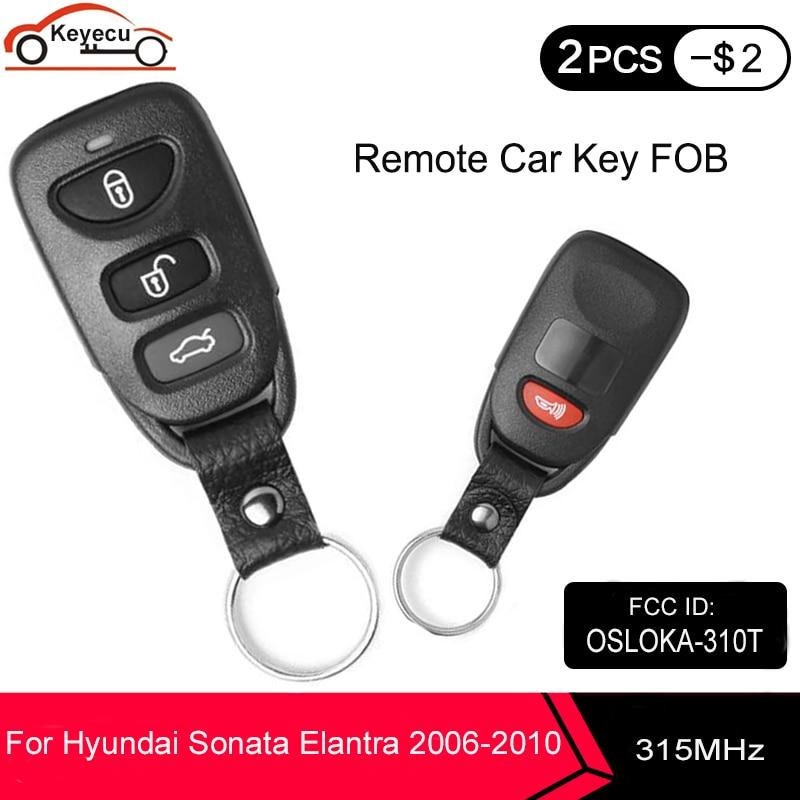 KEYECU Автомобильный Брелок дистанционного управления с ключом 3 + 1 4 кнопки 315 МГц для Hyundai Sonata Elantra 2006 2007 2008 2009 2010 FCC, аддитивного цветового прост...