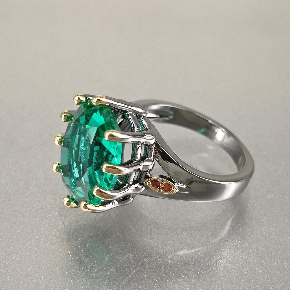 DreamCarnival1989 Big Green Zirconia Solitaire Wedding Ring for Women Delicate Fine Cut Dazzling Prong CZ Bridal Jewelry WA11876 2