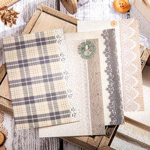 Retro lace memo paper hollow creative collage scrapbook material aesthetics diary stationery decoration furniture material paper