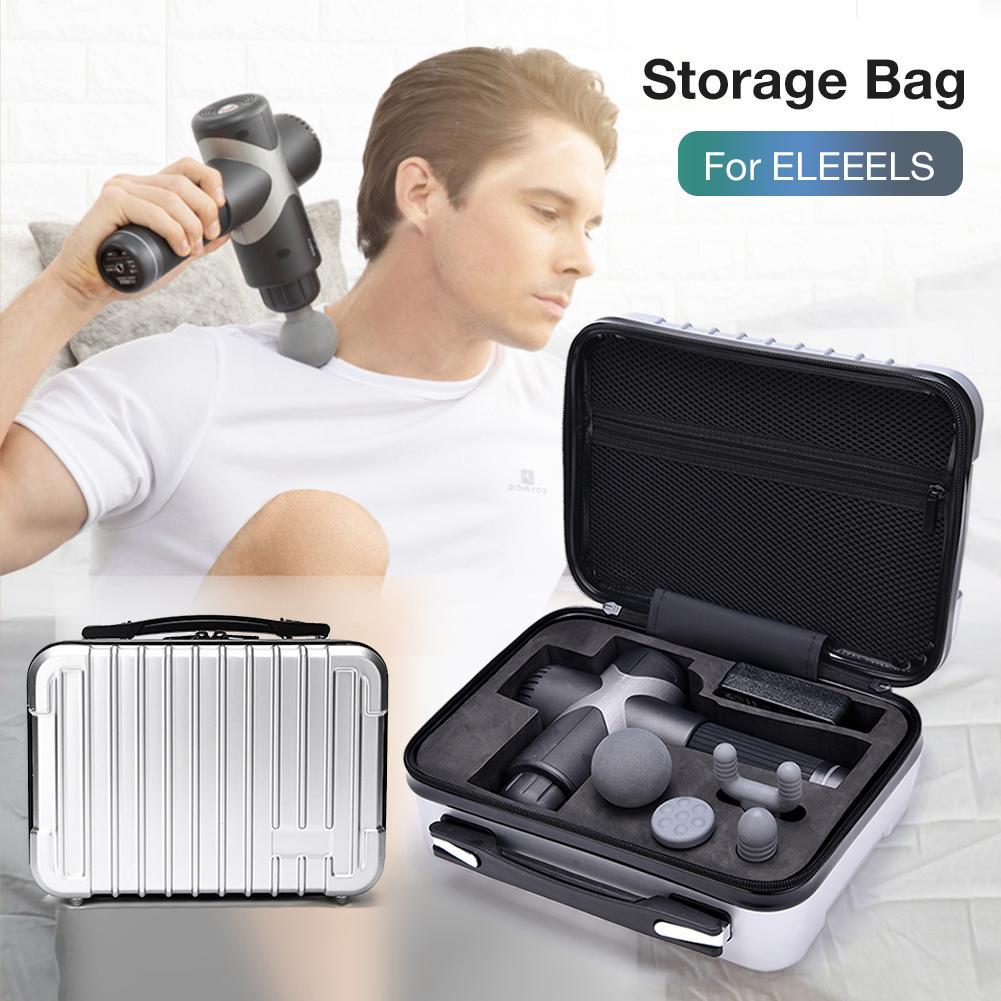 Handheld Carrying Case Waterproof Storage Bag for ELEEELS Massager Suitcase Massage Gun Hard Shell Storage Bag Waterproof Storag