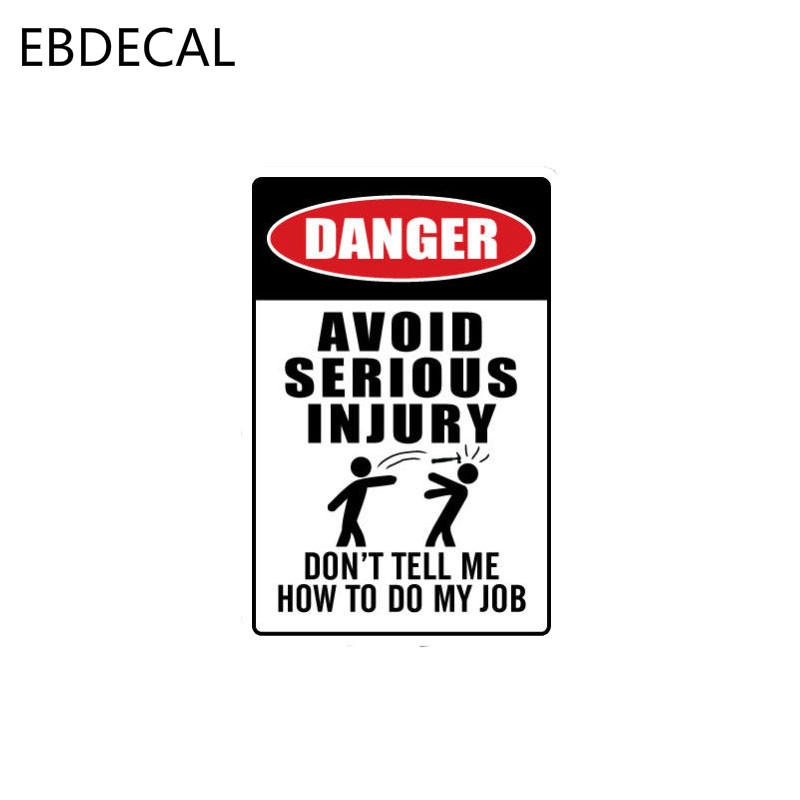 EBdecal AVOID SERIOUS INJURY Danger Decal   For Auto Car/Bumper/Window/Wall Decal Sticker Decals DIY Decor CT5942