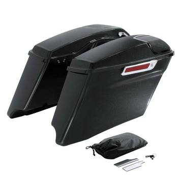 """Motorcycle 4"""" Painted CVO Extended Saddlebag For Harley Touring Road King Street Glide Electra Glide 2014-2020"""