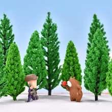 2pcs mini artificial green tree model sand landscape bonsai