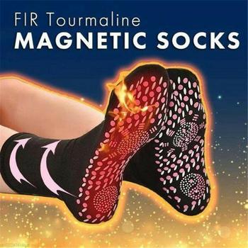 Turmalinowe skarpetki magnetyczne terapia wygodne samonagrzewające skarpetki zdrowotne oddychające masażery zimowe ciepłe skarpetki do pielęgnacji stóp