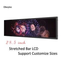 28.5 inch Android display monitor, Bar stretched LCD monitors,  1920×536, VGA/HDMI port,