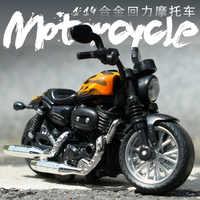 1:14 Harley modèle moto jouets moulage sous pression en métal jouets son lumière LED lumière moto collection loisirs cadeaux pour enfants