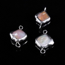 Natural Irregular Pearl Shell Connector Fashion Jewelry DIY Bracelet Necklace Earring Charms Accessories Jewelry Making Supplies