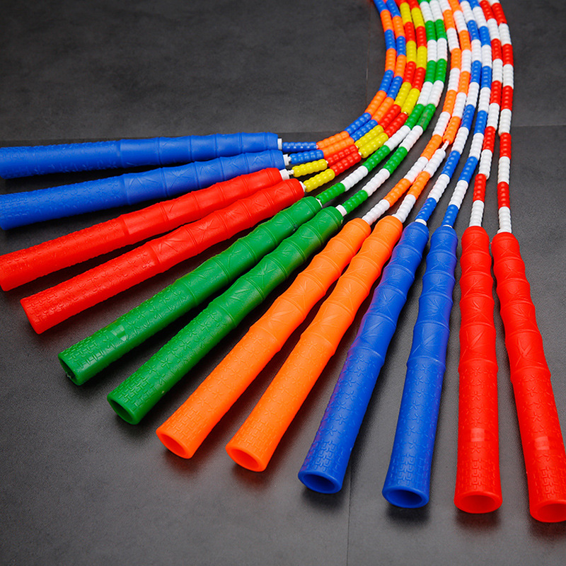 Bamboo Joint Pattern Jump Rope Profession Fitness Sports Primary School STUDENT'S Fancy Men And Women Adult Children Beads Rope