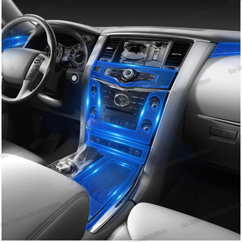 Lsrtw2017 Transparent TPU Car Interior Protective Film Gear Central Control Sticker For Infiniti Qx80 2010-2019 2018 2017 2016