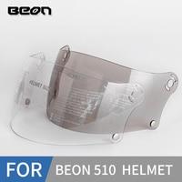 Beon visor de capacete  capacete para B-510 full face  pc  lente transparente  marrom claro