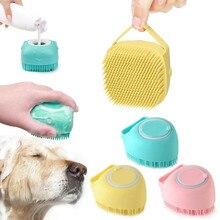 Pet Silicone Bath Brush  2-in-1 Pet Bathroom Puppy Big Dog Cat Bath Massage Gloves Brush Soft Perros Comb Mascotas Products