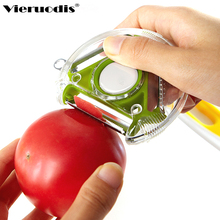 3in1 stainless steel multi-function peeler Fruit and vegetable grater Rotatable button kitchen accessories adgets
