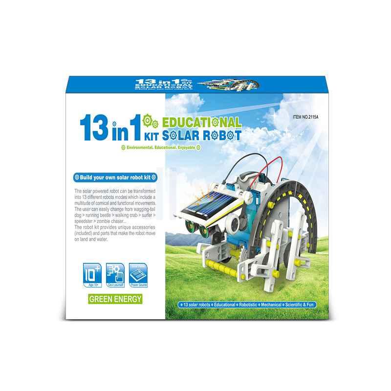 Solar Powered Robot Kits 13 In 1 Solar DIY Educational Gift Toys For Children