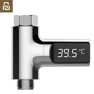 Image 1 - Youpin Led anzeige Home Wasser Dusche Thermometer Fluss Selbst Generierende Strom Temperture Meter Monitor Für Baby Pflege